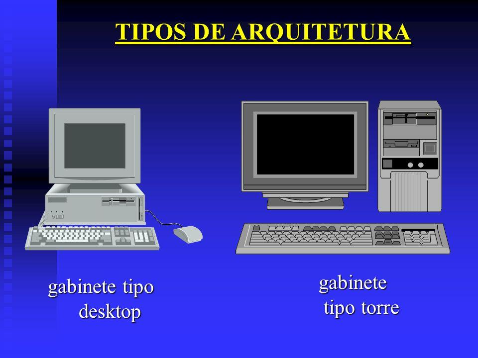 TIPOS DE ARQUITETURA gabinete tipo torre gabinete tipo desktop