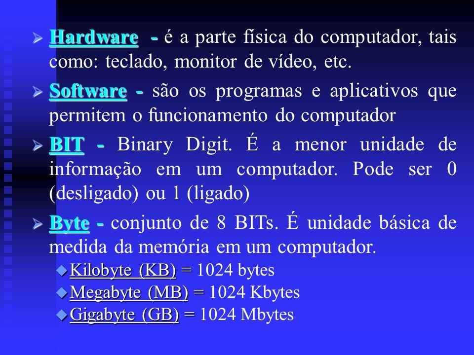 VELOCIDADE DE PROCESSAMENTO Clock - Clock - velocidade do micro-processador.