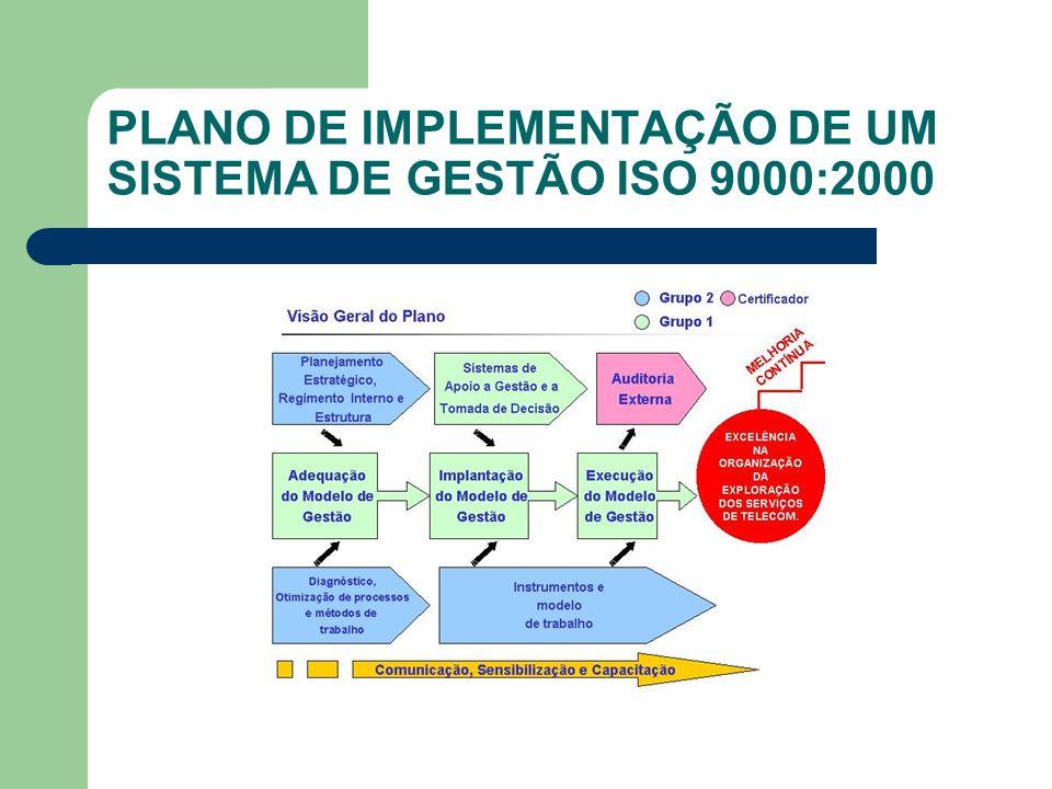 PLANO DE IMPLEMENTAÇÃO DE UM SISTEMA DE GESTÃO ISO 9000:2000