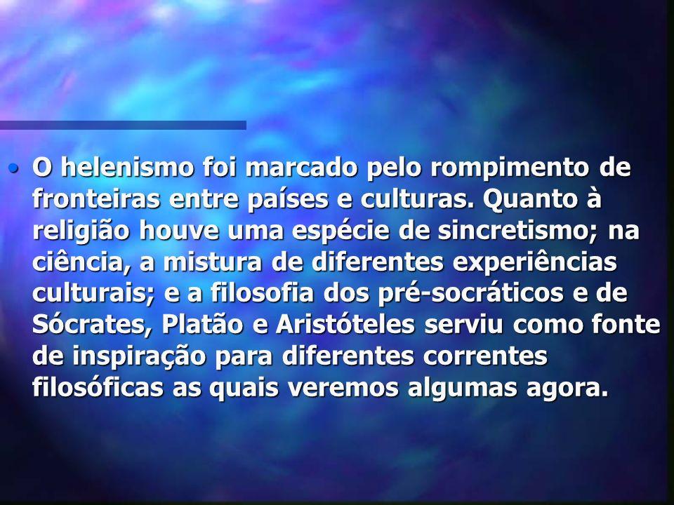 PERÍODO HELENISTA Século IV a.C.ascensão de Alexandre.