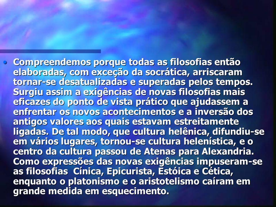 A AMIZADE, A POLÍTICA E A MORTE SEGUNDO O EPICURISMO Esta filosofia enxerga o homem, não mais como cidadão, mas como homem privado.