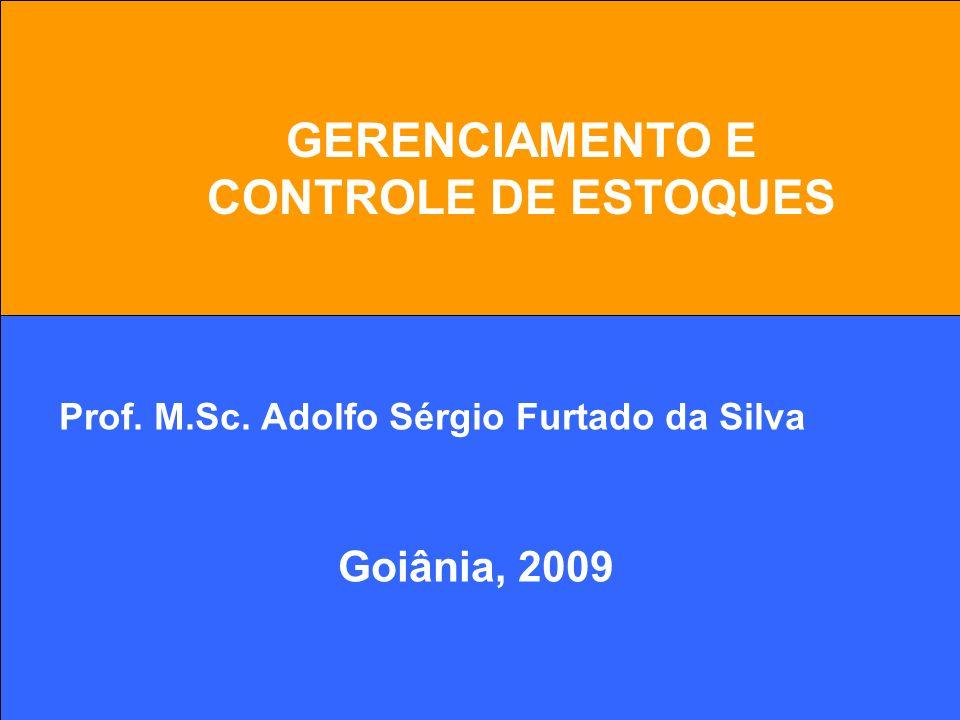 1 GERENCIAMENTO E CONTROLE DE ESTOQUES Prof. M.Sc. Adolfo Sérgio Furtado da Silva Goiânia, 2009
