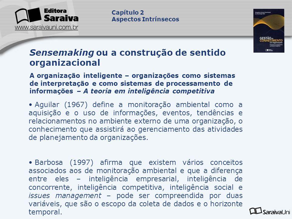 Aguilar (1967) define a monitoração ambiental como a aquisição e o uso de informações, eventos, tendências e relacionamentos no ambiente externo de um
