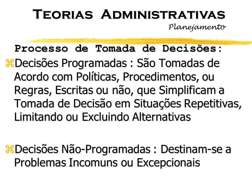 Processo de Tomada de Decisões: zDecisões Programadas : São Tomadas de Acordo com Políticas, Procedimentos, ou Regras, Escritas ou não, que Simplifica