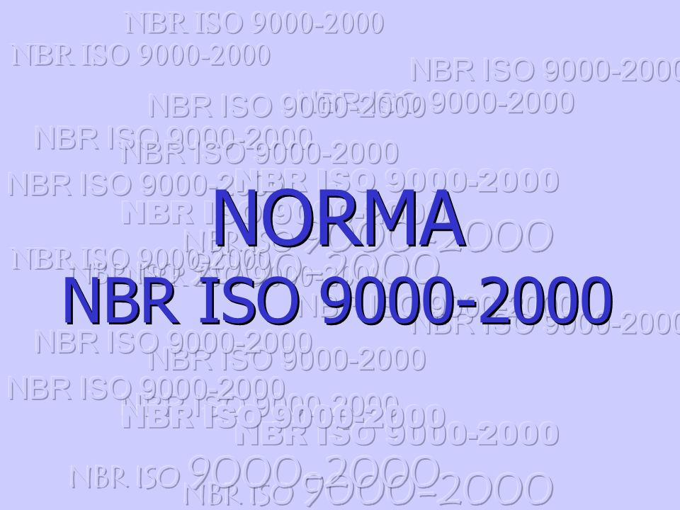 NORMA NBR ISO 9000-2000