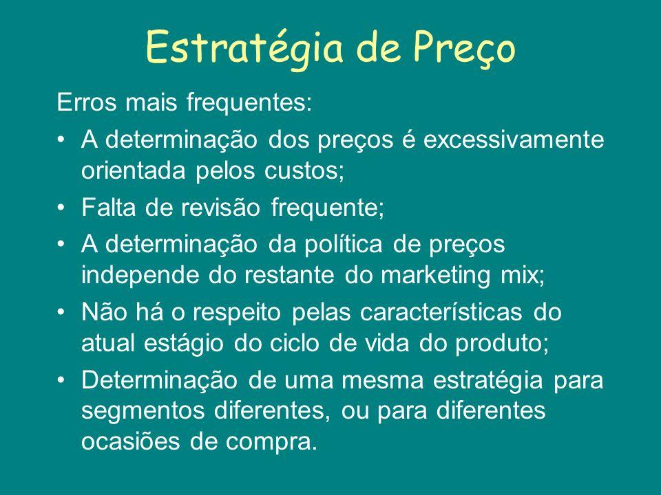 Estratégia de Preço.Preço AltoPreço MédioPreço Baixo Qualidade Alta 1.