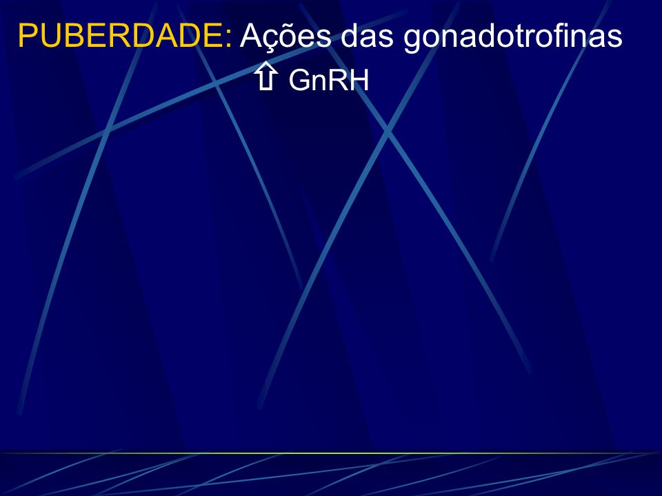 GnRH PUBERDADE: Ações das gonadotrofinas