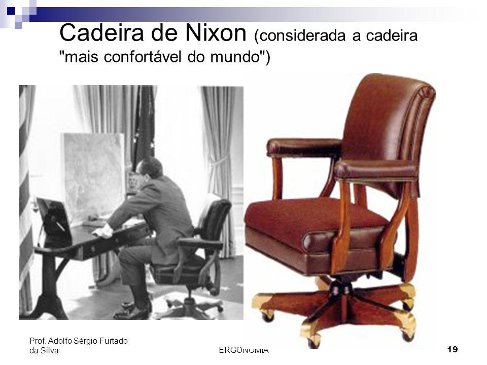 ERGONOMIA 19 Prof. Adolfo Sérgio Furtado da Silva Cadeira de Nixon (considerada a cadeira