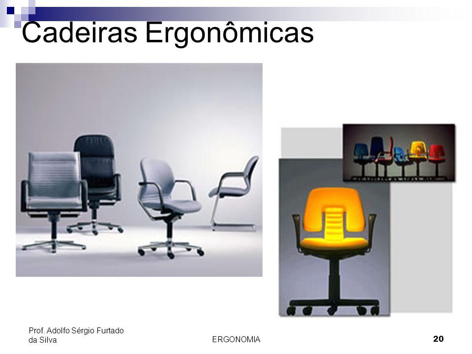 ERGONOMIA 20 Prof. Adolfo Sérgio Furtado da Silva Cadeiras Ergonômicas