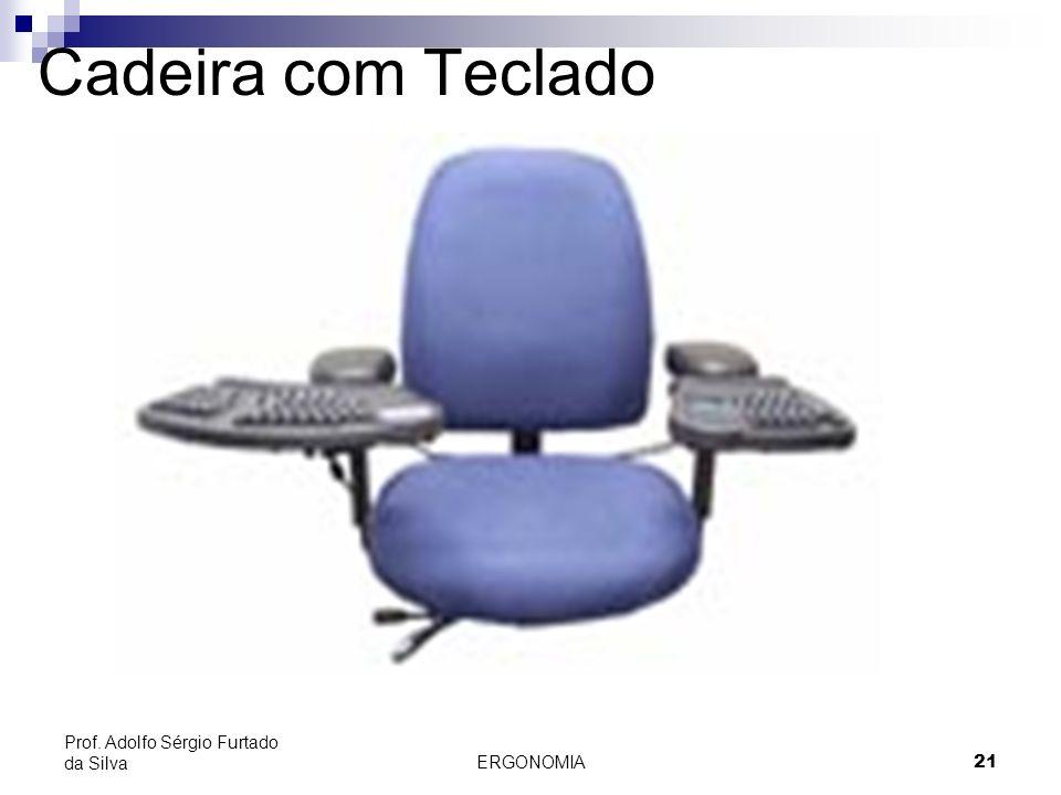 ERGONOMIA 21 Prof. Adolfo Sérgio Furtado da Silva Cadeira com Teclado