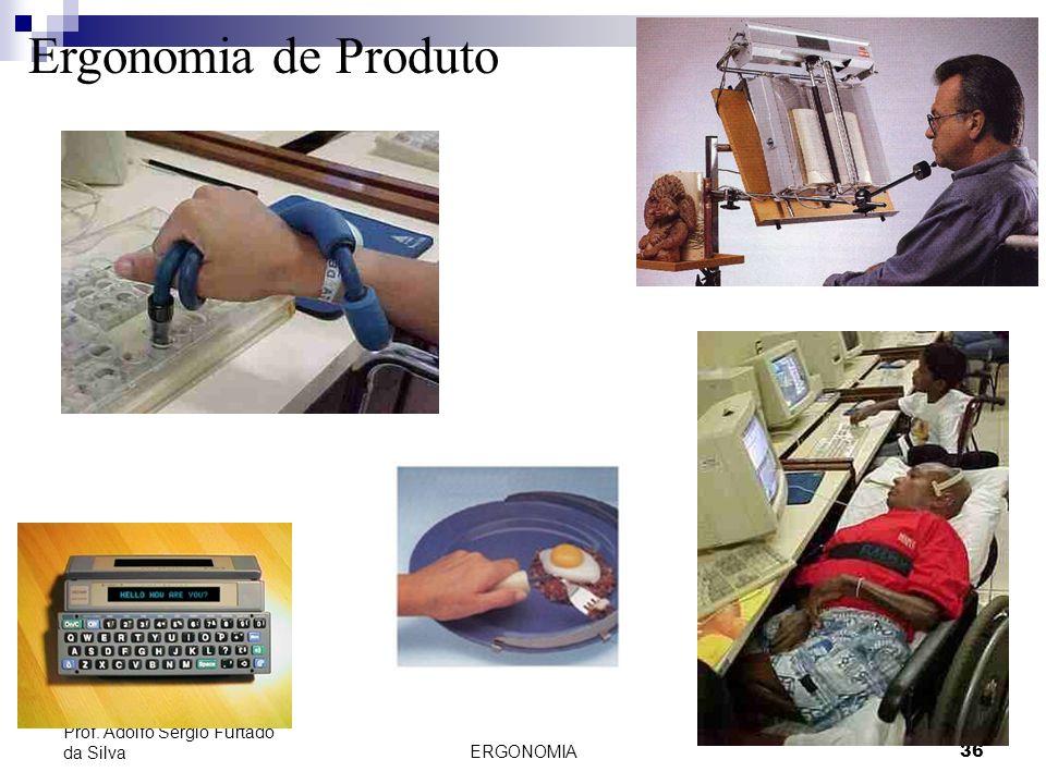 ERGONOMIA 36 Prof. Adolfo Sérgio Furtado da Silva Ergonomia de Produto
