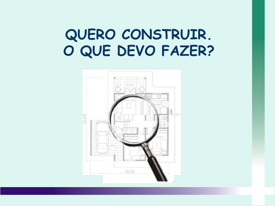 Adquirir um terreno e escriturá-lo; Requerer o mapa do lote na prefeitura; Requerer o documento uso do solo; CONTRATAR UM PROFISSIONAL.
