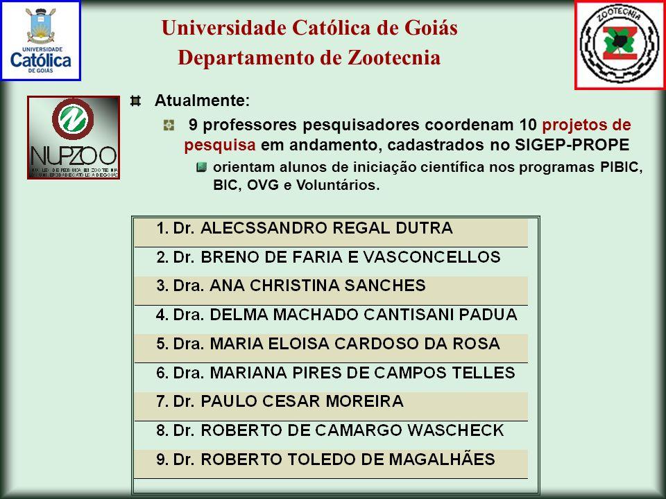 Iniciação Científica na UCG Objetivo dos Programas de Iniciação Científica (IC): introduzir estudantes de diversos cursos na pesquisa científica (vocação científica).