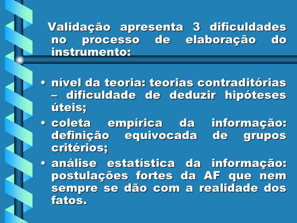 Validação apresenta 3 dificuldades no processo de elaboração do instrumento: Validação apresenta 3 dificuldades no processo de elaboração do instrumen