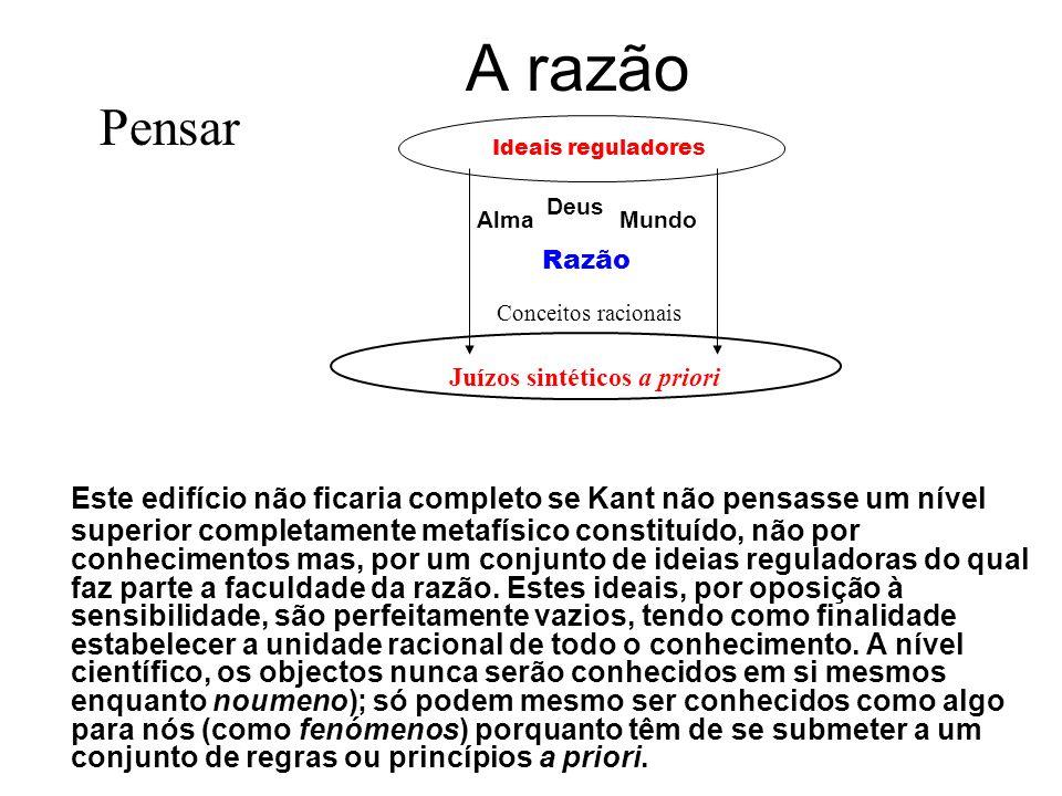 2º nível do conhecimento Numa segunda etapa - a do entendimento - os fenómenos estabelecem relações entre si, organizando as percepções correspondente