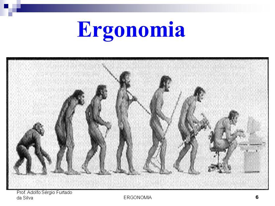ERGONOMIA 6 Prof. Adolfo Sérgio Furtado da Silva Ergonomia