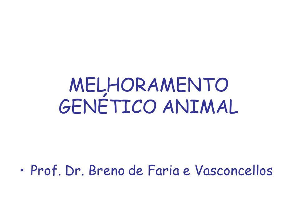 Melhoramento Genético Animal Conjunto de métodos e técnicas que visam o aumento da freqüência dos genes desejáveis ou das boas combinações genéticas em uma população ou a diminuição da freqüência dos genes indesejáveis ou das combinações genéticas ruins.