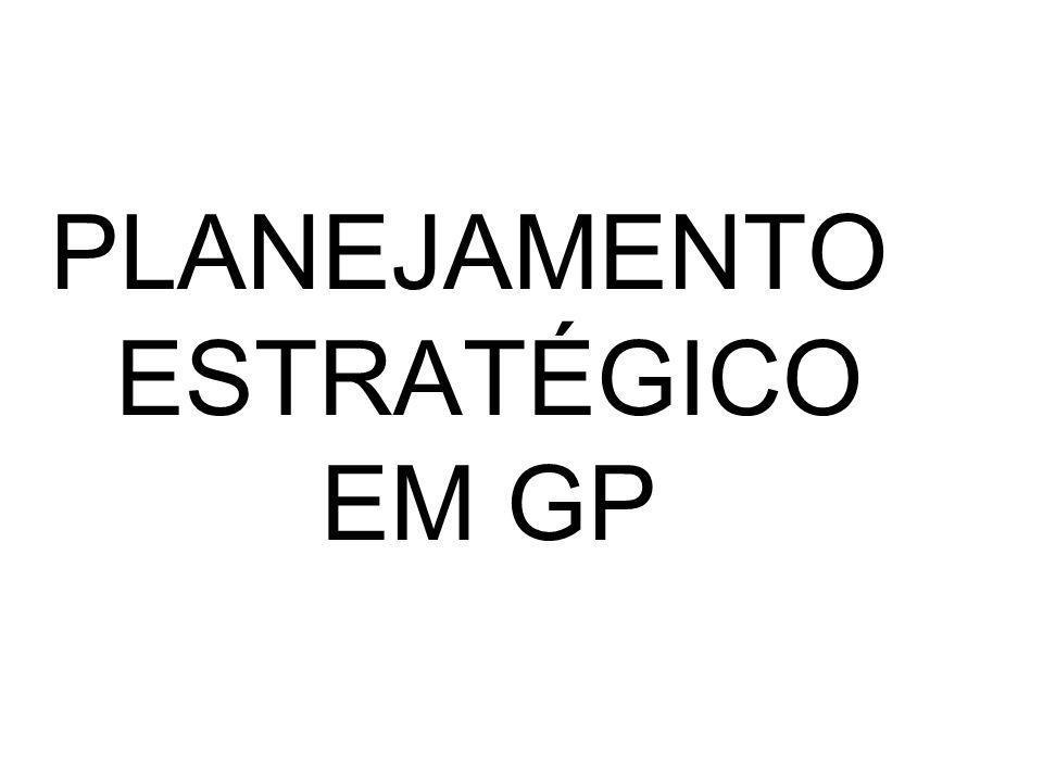 PLANEJAMENTO ESTRATÉGICO EM GP