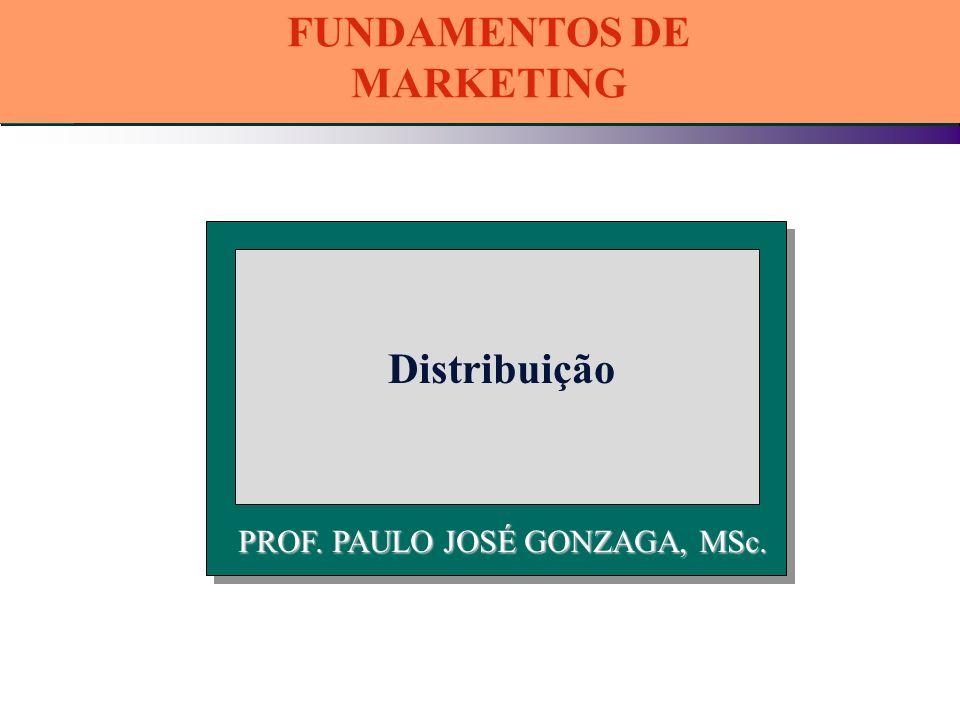 PROF. PAULO JOSÉ GONZAGA, MSc. Distribuição FUNDAMENTOS DE MARKETING