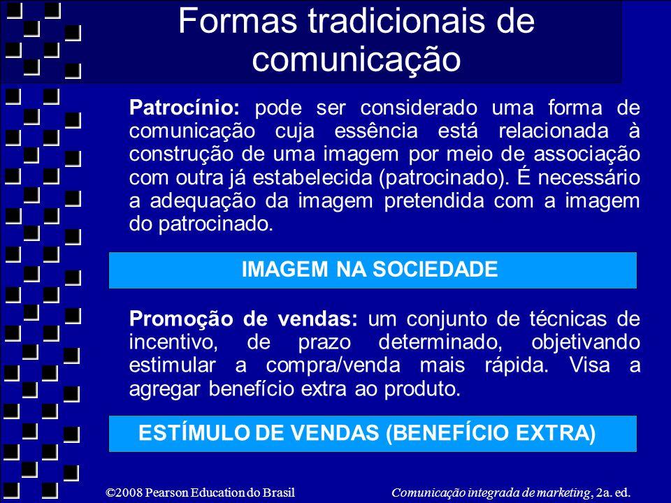 ©2008 Pearson Education do Brasil Comunicação integrada de marketing, 2a. ed. Patrocínio: pode ser considerado uma forma de comunicação cuja essência