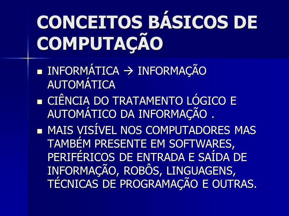 Conceitos - Software Tradutor Tradutor –Etapa de conversão, onde toda a representação simbólica dos programas-fonte é traduzida para o código de máquina.