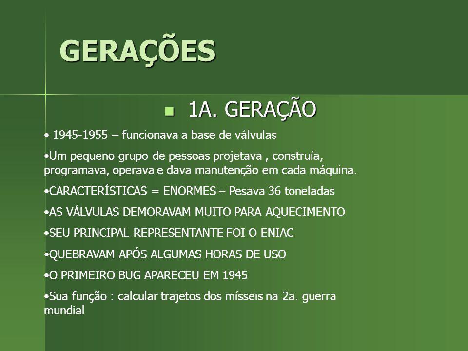 GERAÇÕES 2A.GERAÇÃO 2A.