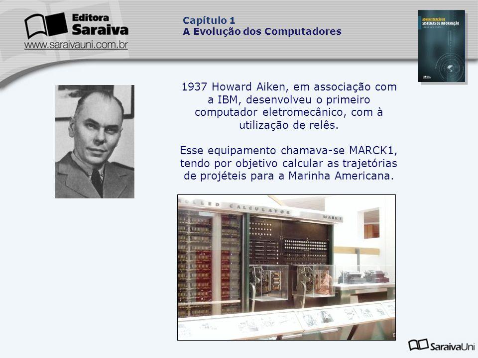 1937 Howard Aiken, em associação com a IBM, desenvolveu o primeiro computador eletromecânico, com à utilização de relês.