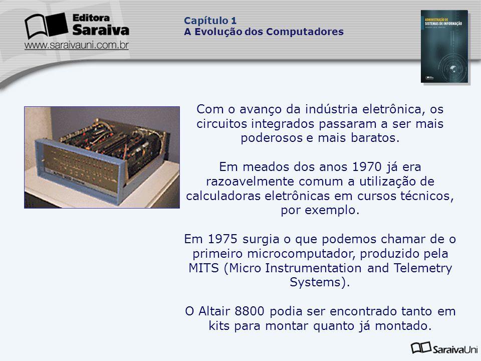 Com o avanço da indústria eletrônica, os circuitos integrados passaram a ser mais poderosos e mais baratos.