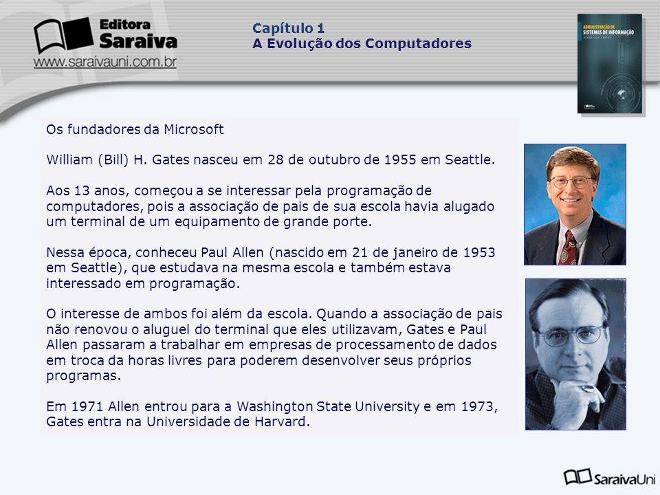 Os fundadores da Microsoft William (Bill) H.Gates nasceu em 28 de outubro de 1955 em Seattle.