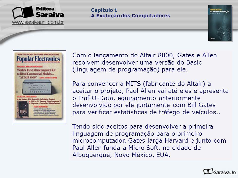 Com o lançamento do Altair 8800, Gates e Allen resolvem desenvolver uma versão do Basic (linguagem de programação) para ele.
