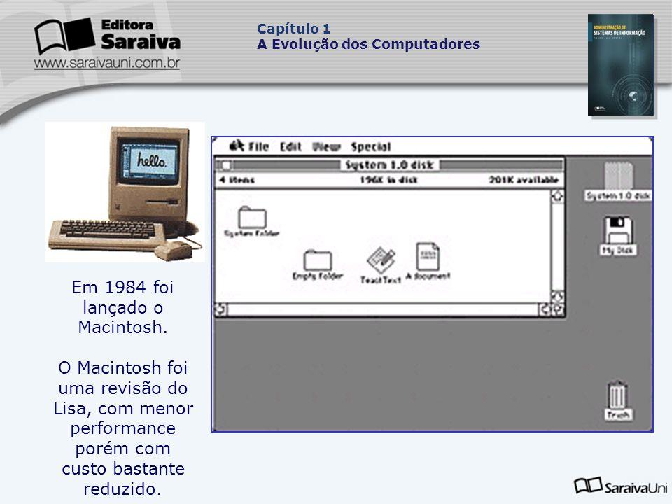Em 1984 foi lançado o Macintosh.