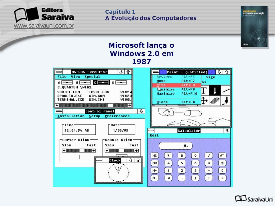 Microsoft lança o Windows 2.0 em 1987 Capítulo 1 A Evolução dos Computadores