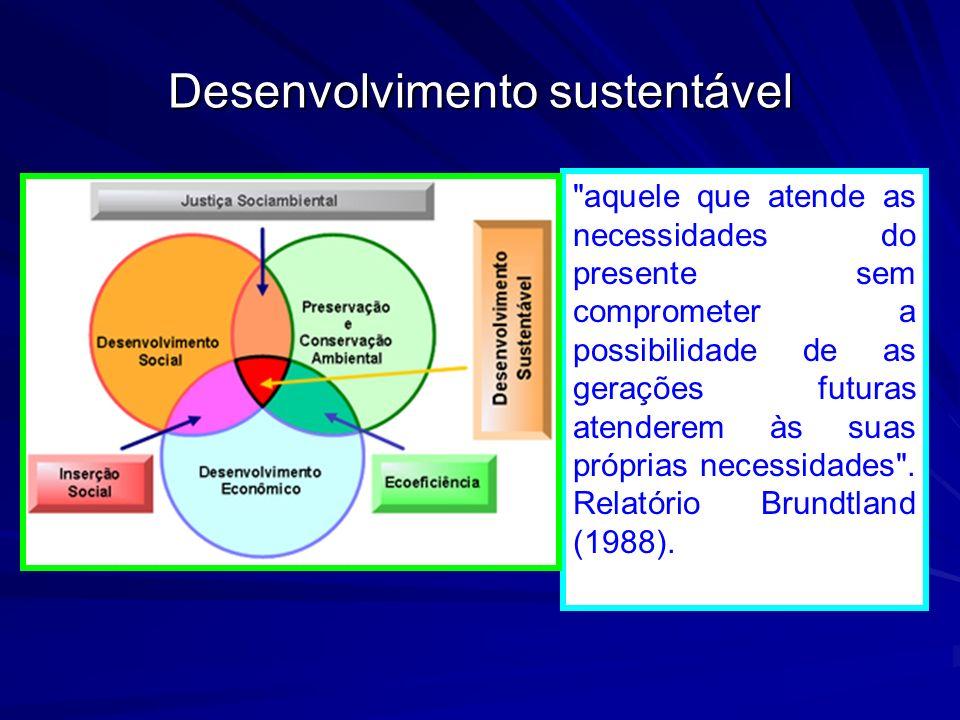Desenvolvimento sustentável Diversidade biológica e diversidade cultural
