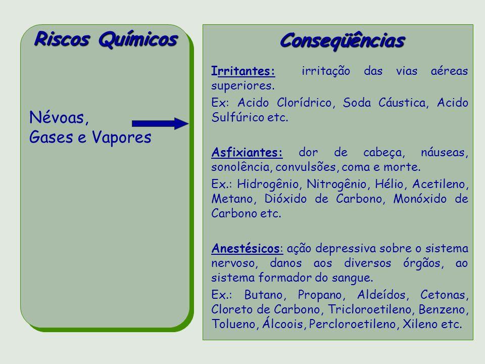 Vírus Bactérias Protozoários Fungos RISCOSBIOLÓGICOSCONSEQÜÊNCIAS Hepatite, poliomielite, herpes, varíola, febre amarela, raiva (hidrofobia), rubéola, aids, dengue, meningite.
