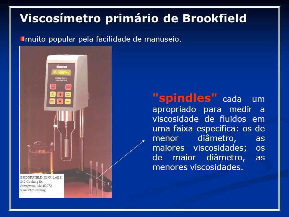 Viscosímetro primário de Brookfield muito popular pela facilidade de manuseio.