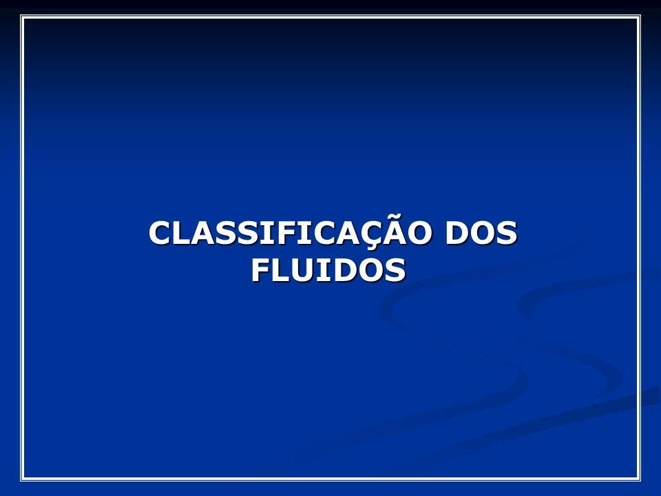 CLASSIFICAÇÃO DOS FLUIDOS CLASSIFICAÇÃO DOS FLUIDOS