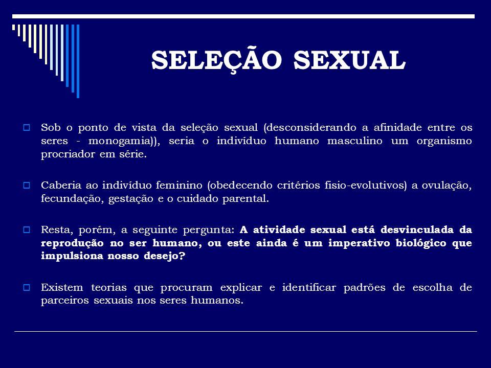 Sob o ponto de vista da seleção sexual (desconsiderando a afinidade entre os seres - monogamia)), seria o indivíduo humano masculino um organismo proc