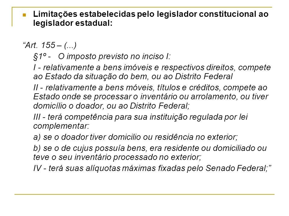 O ITCD no Estado de Goiás Instituído pela Lei estadual nº 10.721/88.