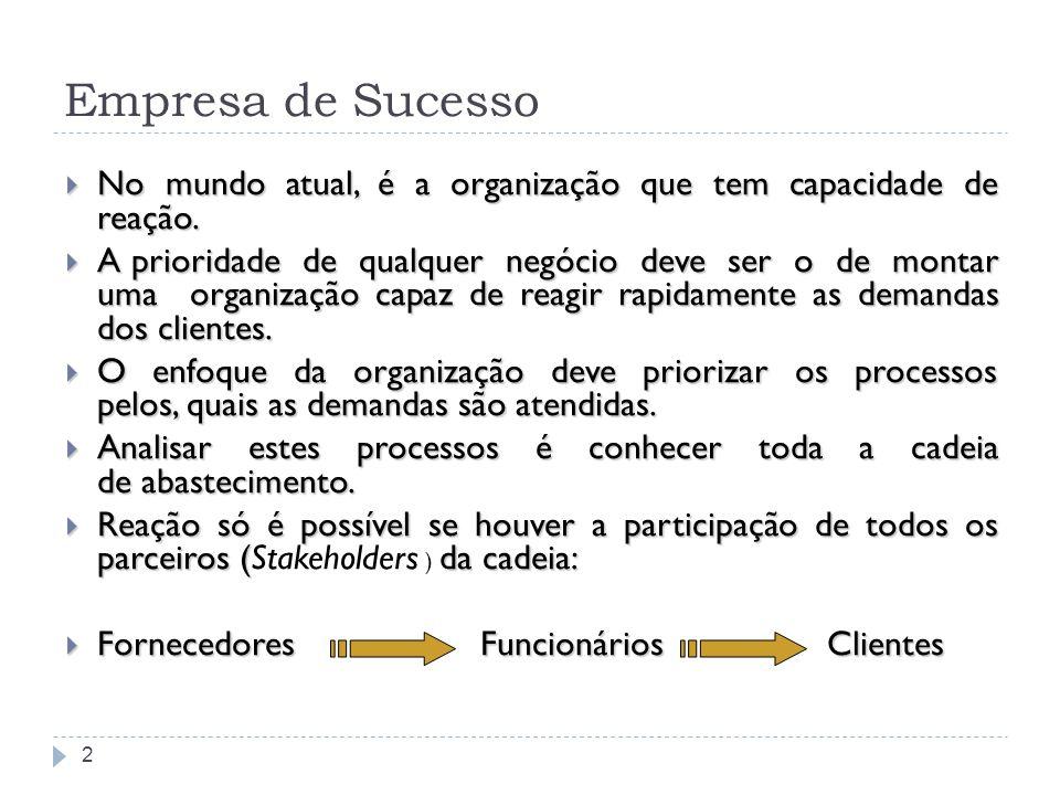 Empresa de Sucesso 2 No mundo atual, é a organização que tem capacidade de reação. No mundo atual, é a organização que tem capacidade de reação. A pri