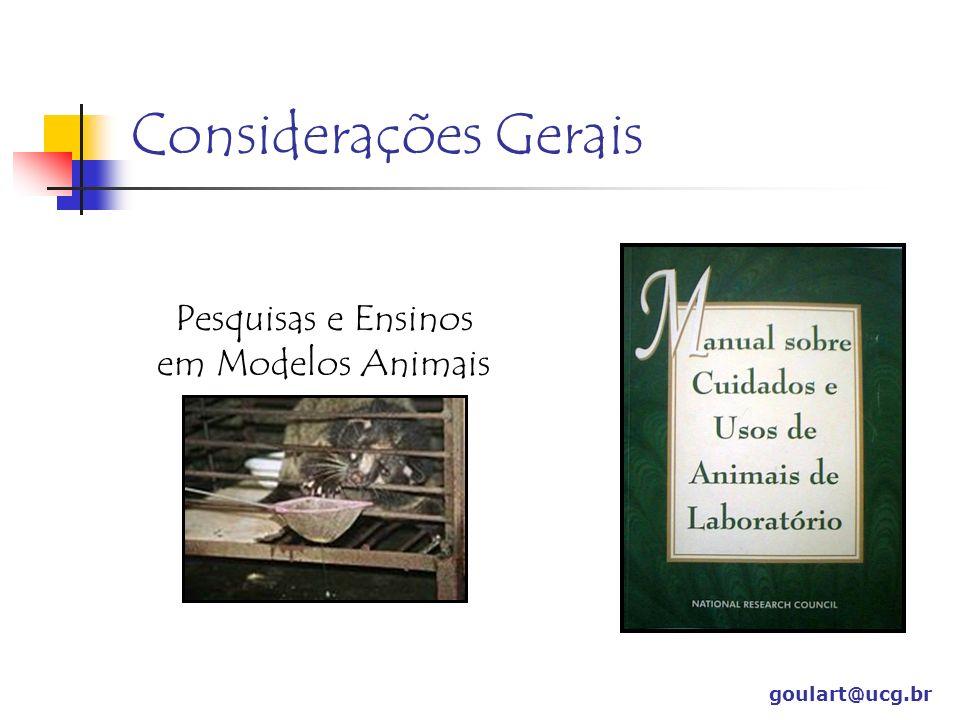 Considerações Gerais Usados em pesquisas desde o século V a.C.