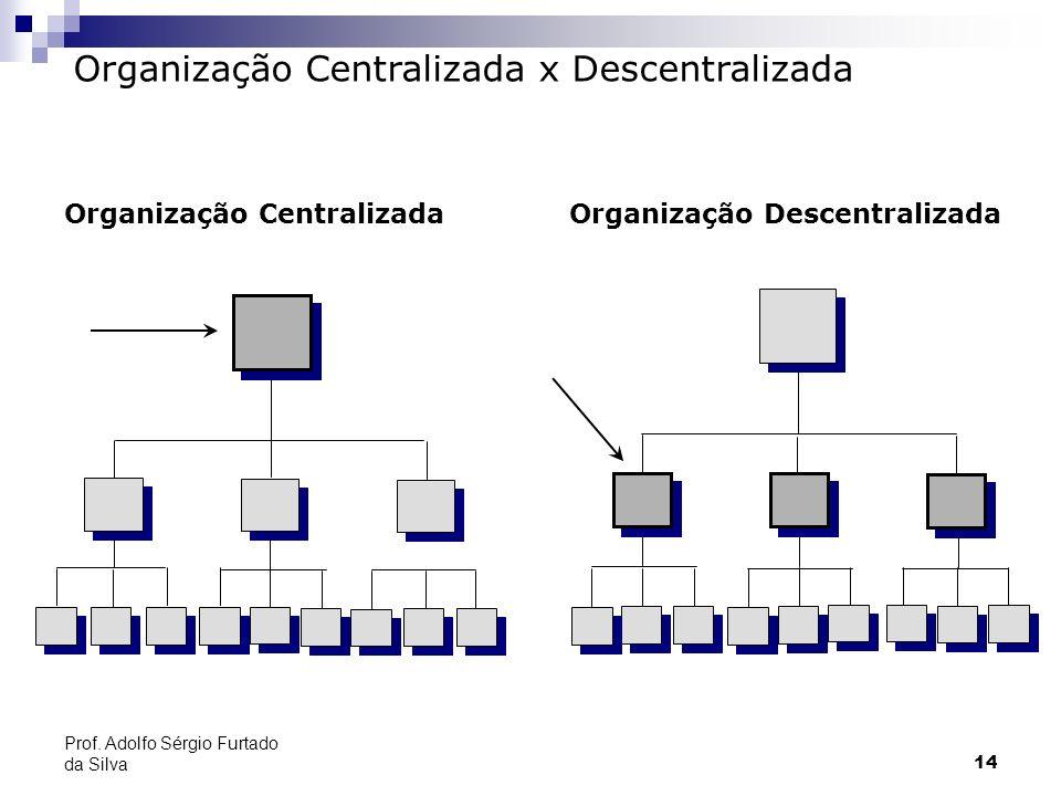 14 Prof. Adolfo Sérgio Furtado da Silva Organização Centralizada x Descentralizada Organização Centralizada Organização Descentralizada