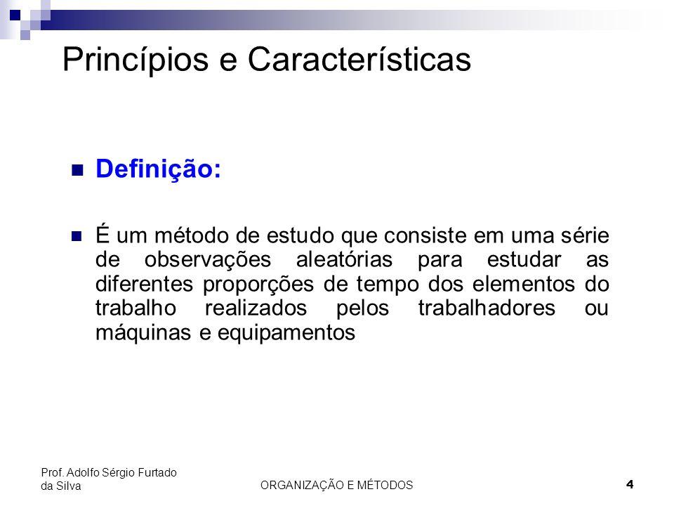 ORGANIZAÇÃO E MÉTODOS4 Prof. Adolfo Sérgio Furtado da Silva Princípios e Características Definição: É um método de estudo que consiste em uma série de