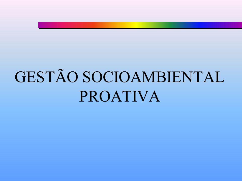 GESTÃO SOCIOAMBIENTAL PROATIVA
