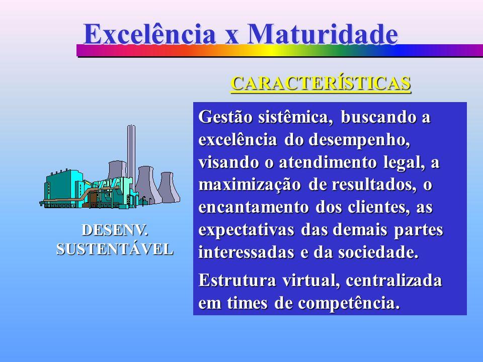 Gestão sistêmica, buscando a excelência do desempenho, visando o atendimento legal, a maximização de resultados, o encantamento dos clientes, as expec