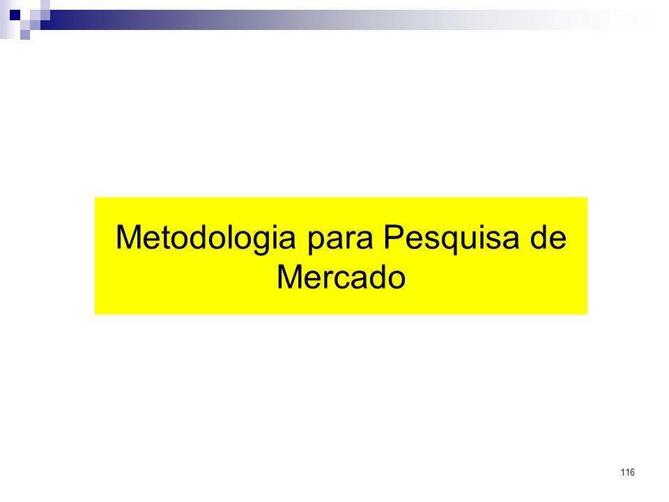 116 Metodologia para Pesquisa de Mercado