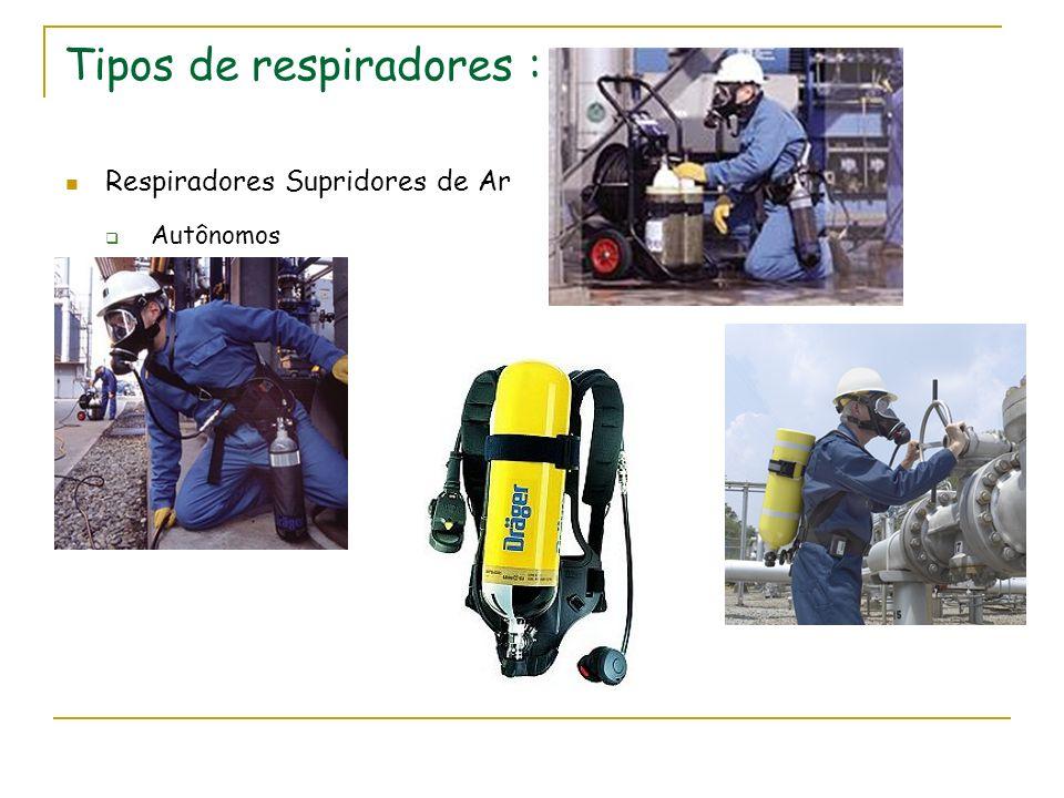 Tipos de respiradores : Respiradores Supridores de Ar Autônomos
