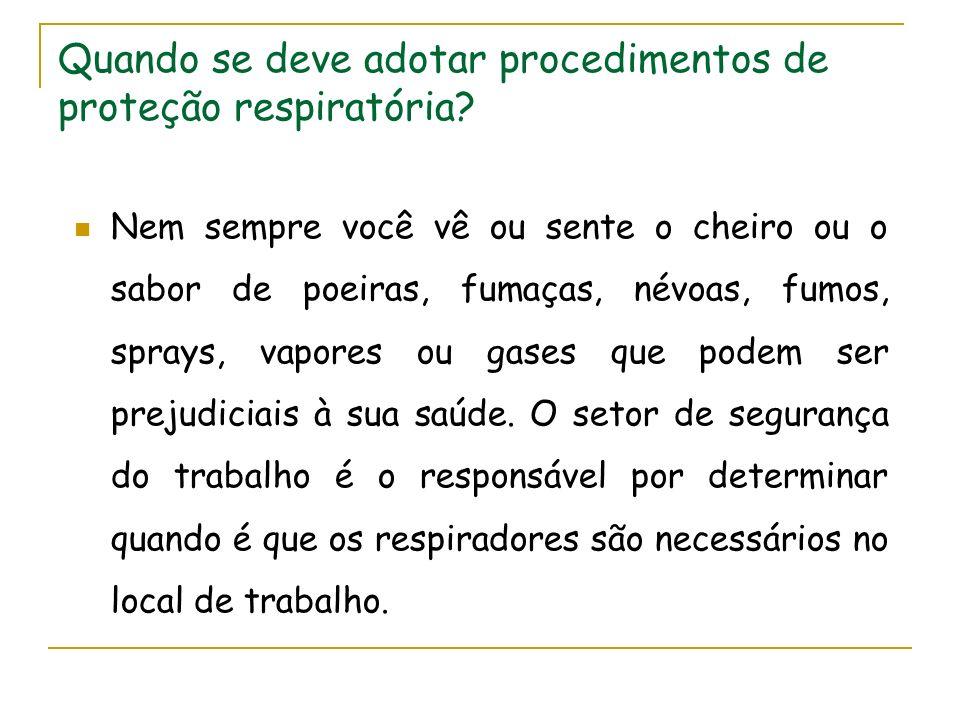 Tipos de respiradores : Purificadores de ar – Filtros Não motorizados, tipo Peça Facial Filtrante – PFF
