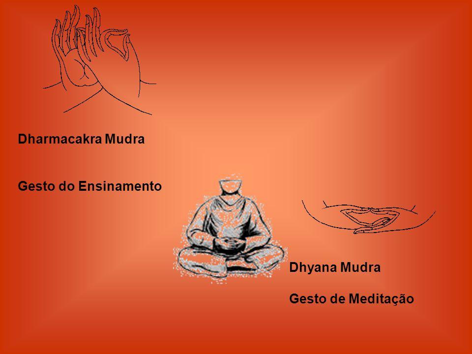 Dharmacakra Mudra Gesto do Ensinamento Dhyana Mudra Gesto de Meditação