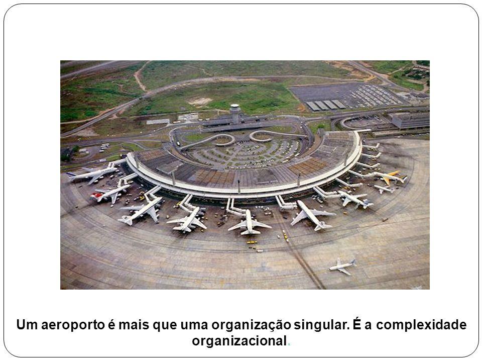 Um aeroporto é mais que uma organização singular. É a complexidade organizacional.
