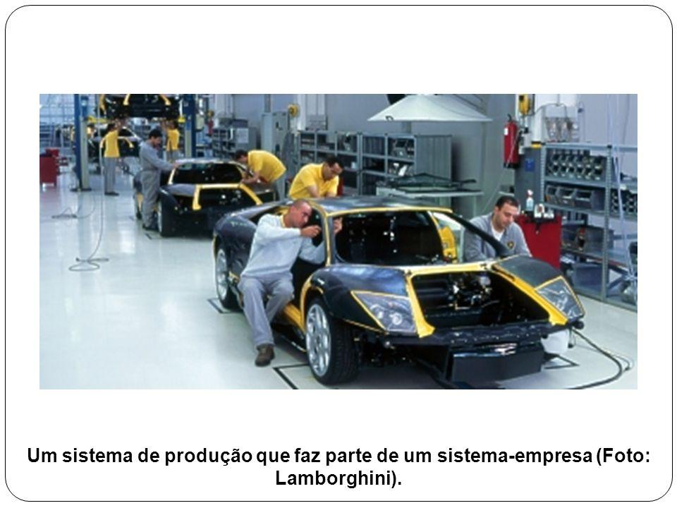 Um sistema de produção que faz parte de um sistema-empresa (Foto: Lamborghini).